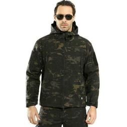 Airsoft Men's Outdoor Military Tactical Jacket Soft Shell Wa