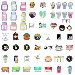 Creative Square Letter Board Brooches Badges Backpack Jacket
