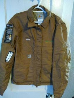 Carhartt FR Size Medium Canvas Dearborn Jacket Quilt Lined F