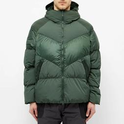 Nike Hooded Down Jacket Men's Green Solid Casual Outdoor Act
