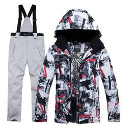 Jacket + Strap Pant Sets Men's Snow Outdoor Sports Clothing