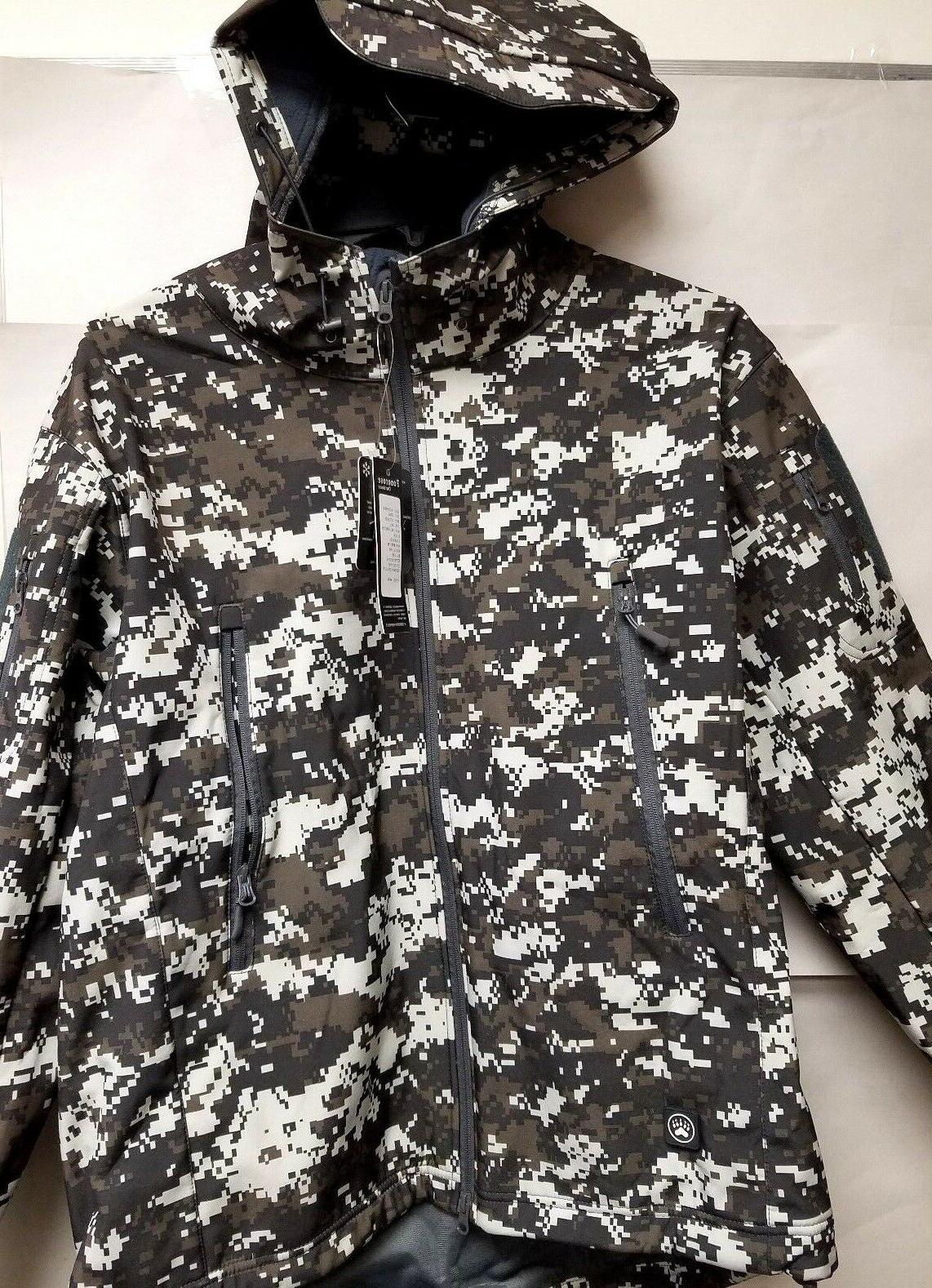 men s soft shell water resistant hooded