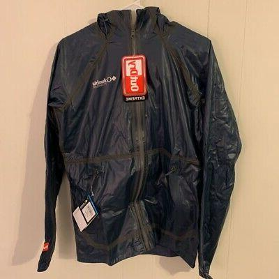 mens outdry extreme rain jacket blue hooded