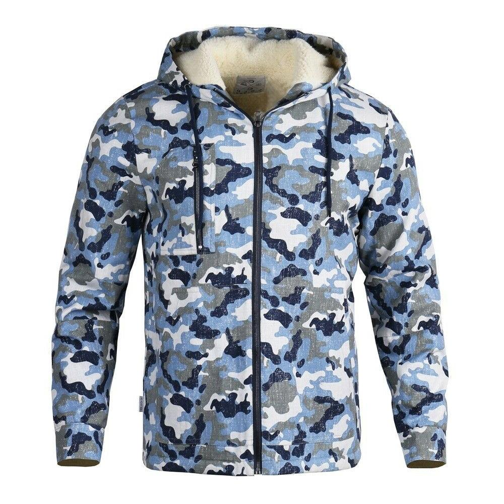 mens winter outdoor cotton lined windproof sherpa