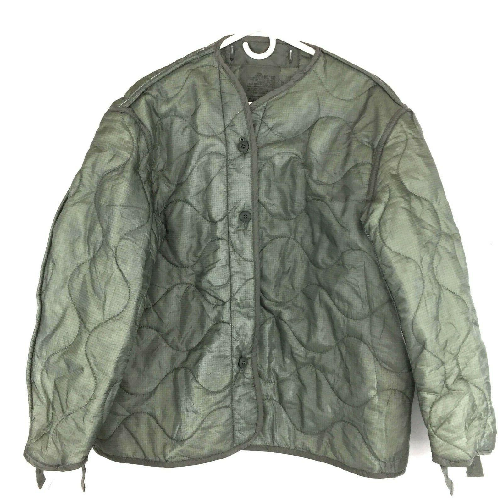 military coat liner m65 quilted foliage green