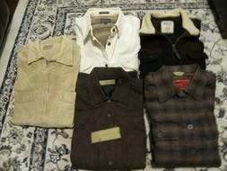 Lot of 5 Outdoor/Field Shirts/Work Shirts-jacket/Over Shirts