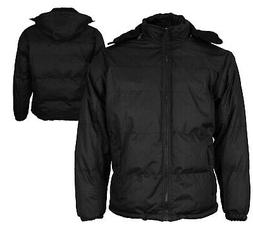 Men's Heavyweight Insulated Lined Jacket with Removable Hood