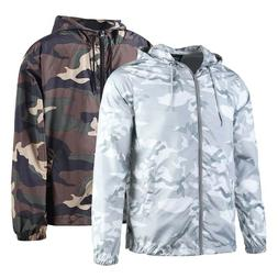 men s hooded lightweight windbreaker outdoor jacket