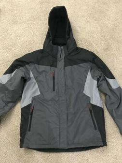 OUTDOOR LIFEMen's Hooded Mid-Weight Jacket SIZE M  GRAY CO