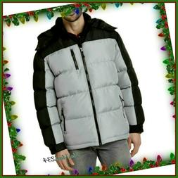 Outdoor Life Men's Hooded Puffer Jacket - Insulated Water Re
