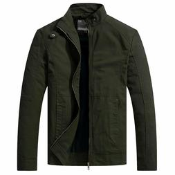 WenVen Men's Military Jackets Casual Spring Jackets Outdoor