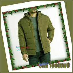 Outdoor Life Men's Water-Resistant Puffer Jacket Insulated H