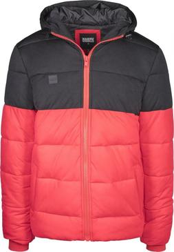 Urban Classics Men's Winter Jacket Hooded 2-Tone Puffer Outd