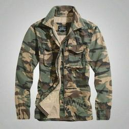 Mens camouflage Military Combat Casual Jacket Outdoor Pocket