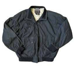 Faconnable Mens Full Zip Lined Golf Water Resistant Bomber J
