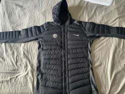 Nike Mens Hooded Puff Down Jacket Black And Grey XL