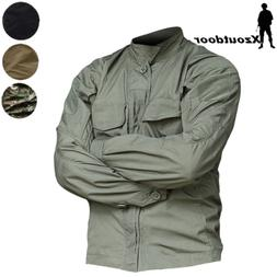 Mens Military Shirts jacket Combat Tactical Waterproof Scout