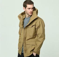 Mens Tactical Waterproof Soft Shell Coats Hoodie Hiking Outd