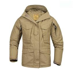 Mens Waterproof Soft Coats Hooded Hiking Outdoor Thick Jacke