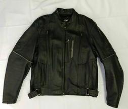 NEW Mens Leather Harley-Davidson Riding Jacket Reflective Ve