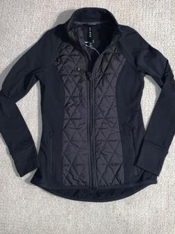 New Womens LJ Black Quilted Outdoor Jacket Small