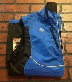 NWT GOLDS GYM Mens S/M Blue Full Zip Outdoor Cycling Running