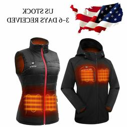 ORORO Women Heated Jacket Vest with Battery Pack Winter Outd