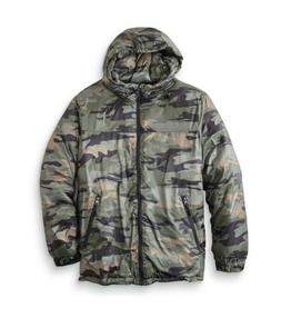 Outdoor Life Men's Hooded Puffer Jacket-Camouflage Print - O