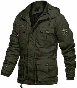 TACVASEN Outdoor Military Cargo Jacket Multi Pockets Militar