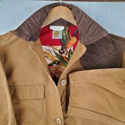 Rare VTG CARHARTT Size 42 Large Duck Lined Hunting Jacket Ga