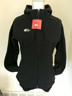 THE NORTH FACE Women's 100 Tundra Zip Hoodie Jacket TNF Blac